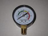 Pressure gauge.